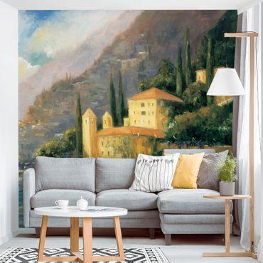 Fototapete - Italienische Landschaft - Landhaus