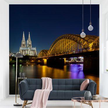 Fototapete Köln bei Nacht