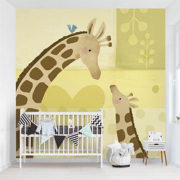 Fototapete - Mama und ich - Giraffen