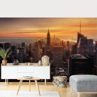 Fototapete - Manhattan Skyline Abendstimmung