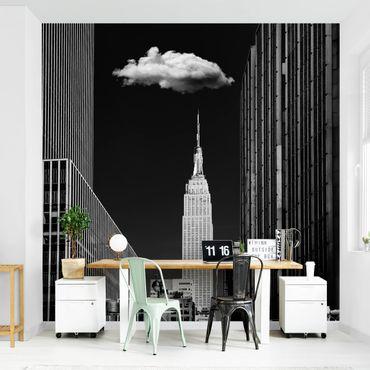 Fototapete - New York mit einzelner Wolke
