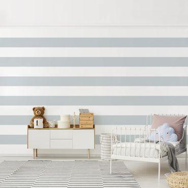 Fototapete Querstreifen Grau Weiß