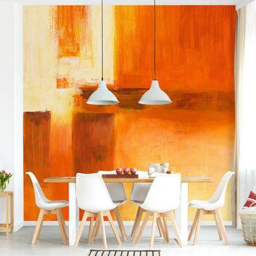 Fototapete - Petra Schüßler - Komposition in Orange und Braun 01