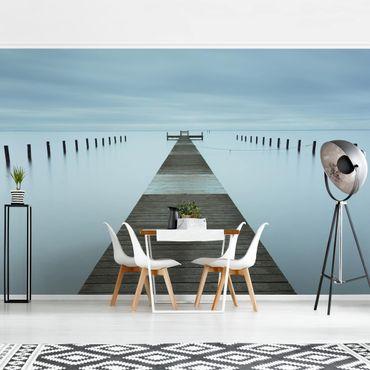 Fototapete - Pier in Schweden