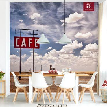Fototapete - Route 66 - Straßencafé