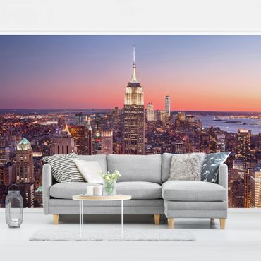 Fototapete - Sonnenuntergang Manhattan New York City