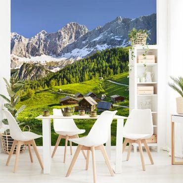 Fototapete Steiermark Almwiese