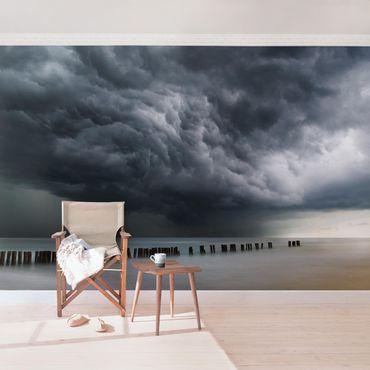 Fototapete - Sturmwolken über der Ostsee
