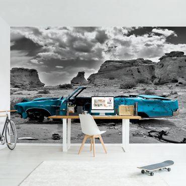 Fototapete Türkiser Cadillac