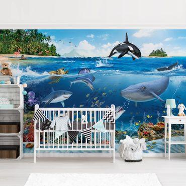 Fototapete Kinderzimmer - Animal Club International - Unterwasserwelt mit Tieren
