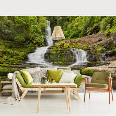 Fototapete - Upper McLean Falls in Neuseeland