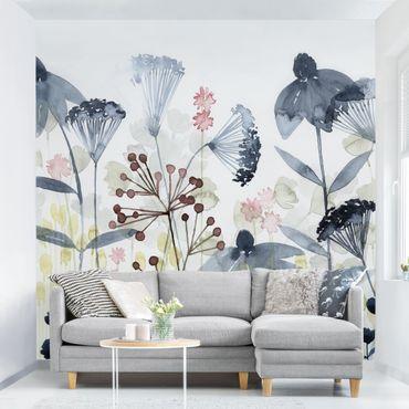 Fototapete - Wildblumen Aquarell I