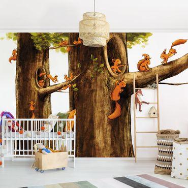 Fototapete Zuhause der Einhörnchen