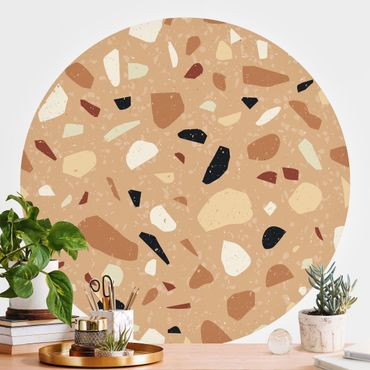 Runde Tapete selbstklebend - Terrazzo Muster Florenz
