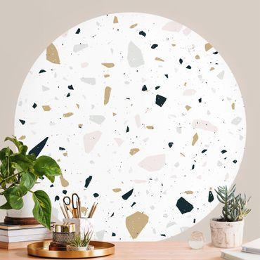 Runde Tapete selbstklebend - Terrazzo Muster San Remo