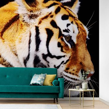 Metallic Tapete  - Tiger Schönheit