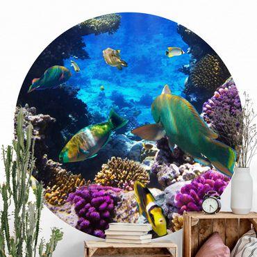 Runde Tapete selbstklebend - Underwater Dreams