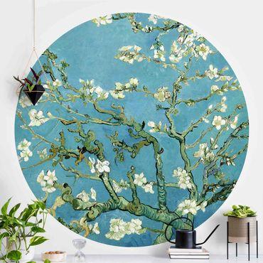 Runde Tapete selbstklebend - Vincent van Gogh - Mandelblüte
