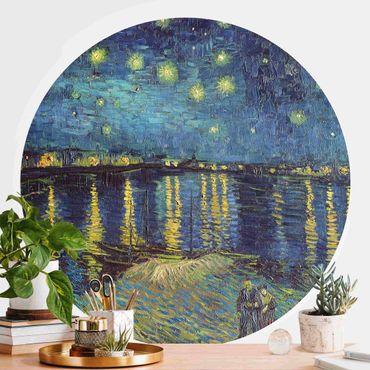 Runde Tapete selbstklebend - Vincent van Gogh - Sternennacht über der Rhône