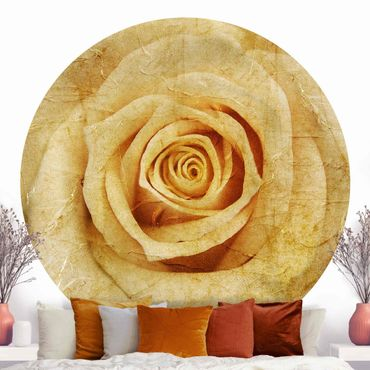 Runde Tapete selbstklebend - Vintage Rose