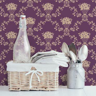 Fototapete Blumenkorb Violett