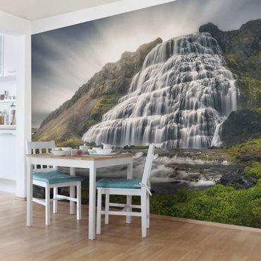 Fototapete Dynjandi Wasserfall
