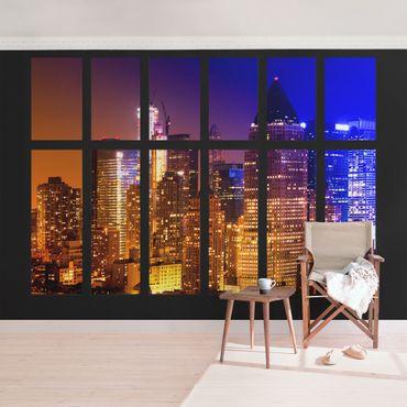 Fototapete Fenster Manhattan Sonnenaufgang