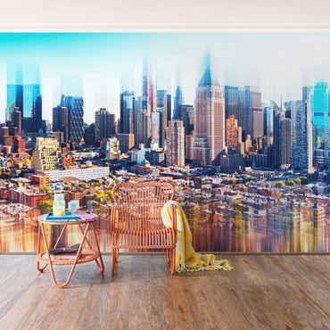 Fototapete Manhattan Skyline Urban Stretch