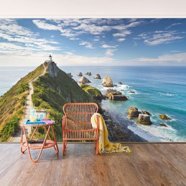 Fototapete Nugget Point Leuchtturm und Meer Neuseeland