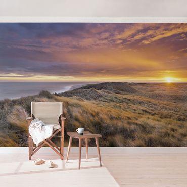 Fototapete Sonnenaufgang am Strand auf Sylt