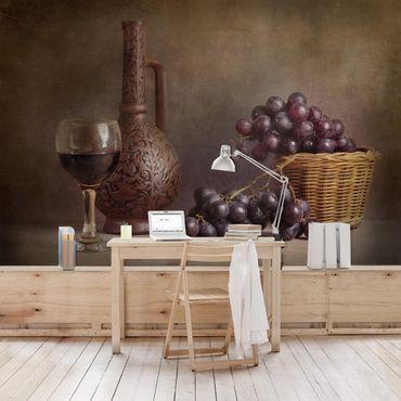 Fototapete Stillleben mit Weintrauben