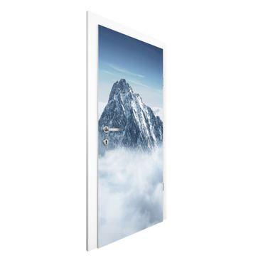 Türtapete - Die Alpen über den Wolken