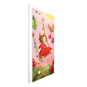 Türtapete - Erdbeerinchen Erdbeerfee - Baumschaukel