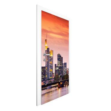 Türtapete - Frankfurt Skyline