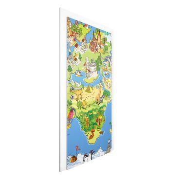 Türtapete - Great And Funny Worldmap