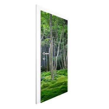 Türtapete - Japanischer Wald