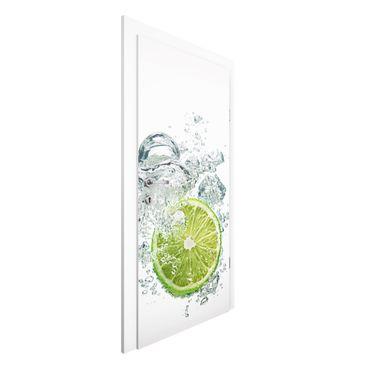 Türtapete - Lime Bubbles