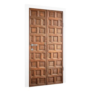 Türtapete - Mediterrane Holztür aus Granada