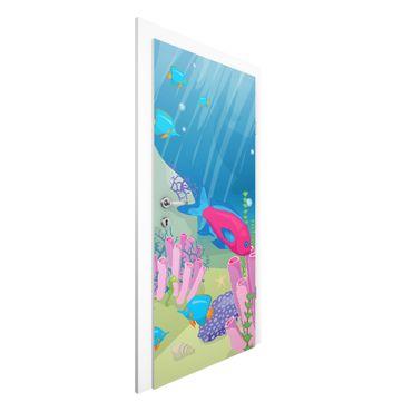 Türtapete - Unterwasserwelt