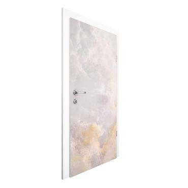 Türtapete - Onyx Marmor Grau