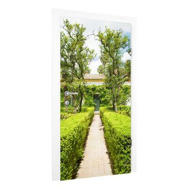 Türtapete - Palastgarten in Sevilla