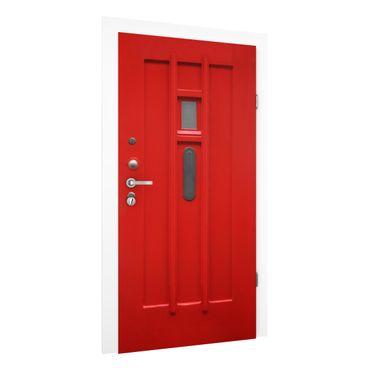 Türtapete - Rote Tür aus Amsterdam