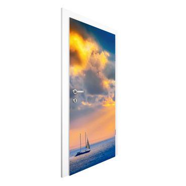 Türtapete - Sailing the Horizon