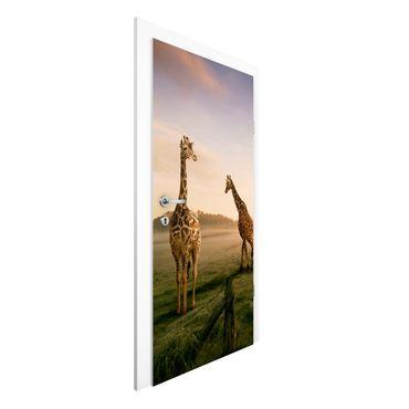 Türtapete - Surreal Giraffes