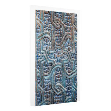 Türtapete - Tür mit marokkanischer Schnitzkunst