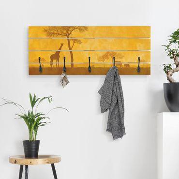 Wandgarderobe Holz - Amazing Kenya