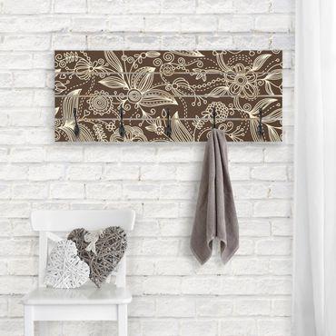 Wandgarderobe Holz - Art Nouveau Monochrome