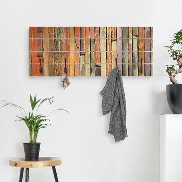 Wandgarderobe Holz - Bretterstapel