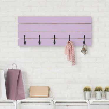 Wandgarderobe Holz - Colour Lavender