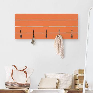 Wandgarderobe Holz - Colour Orange